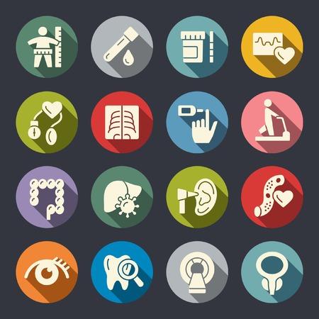 Health check up icons Illusztráció