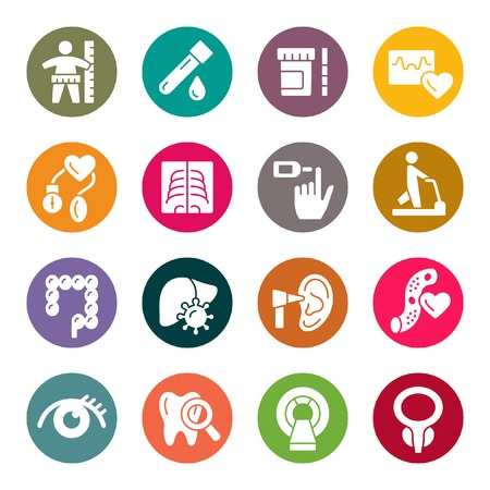 Health check up icons Иллюстрация