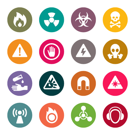 Hazard signs icons