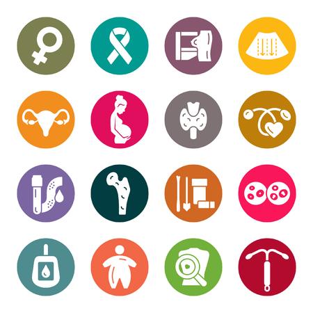 Gesundheitssymbole der Frau