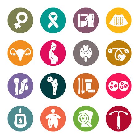Woman's health icons