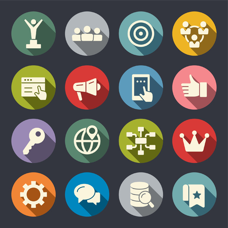 Internet marketing flat icons