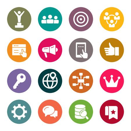 Internet marketing icon set