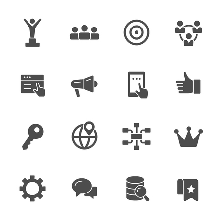 Digital marketing icons 矢量图像