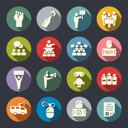 Protest flat icons