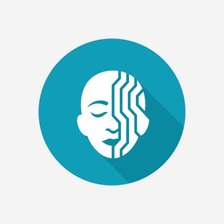 Cyborg icon Illustration