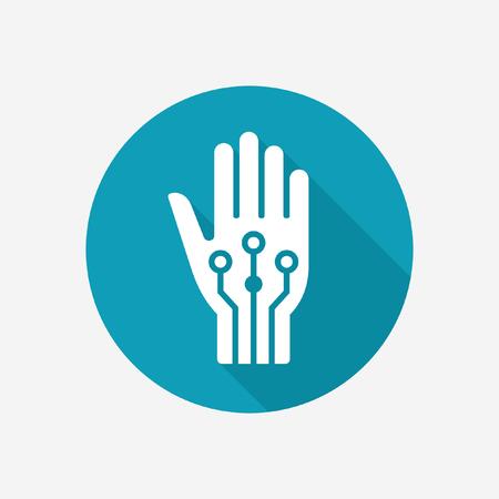 Artificial hand icon