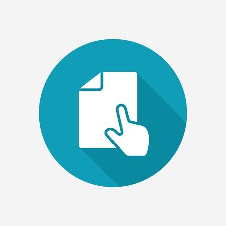 Online document icon Illustration