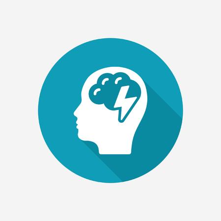 Head with brain icon Illustration