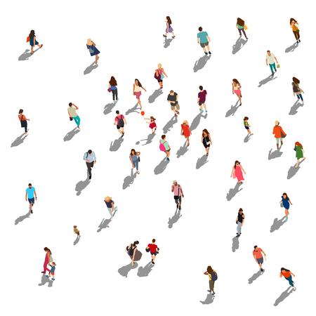 People crowd vector illustration Illustration
