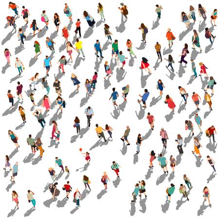 Persone folla illustrazione vettoriale Vettoriali