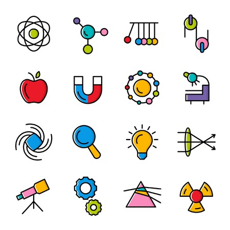 Physics icons Illustration