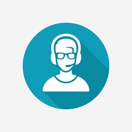 Headphones person icon