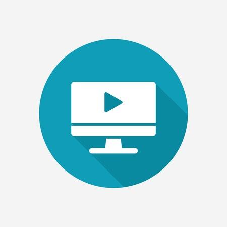 Video player icon Illustration