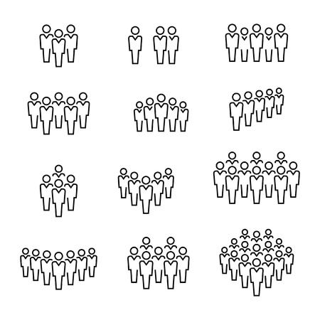 People icons Illustration