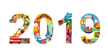 2019 year travel plan Illustration