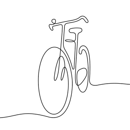 Bicycle one line vector illustration