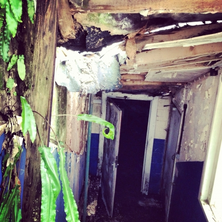 caving: Roof caving in in abandoned boys school