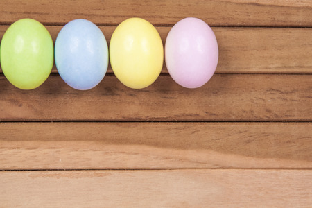 osterfest: Easter Eggs on a wooden background