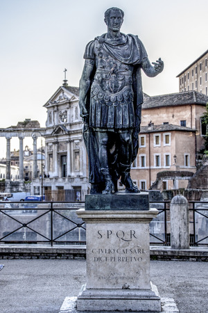 memorial statue of Julius Caesar in Rome Stock Photo - 26773982