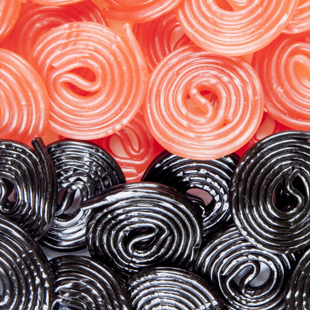 cary: black and red licorice wheels