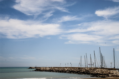 ragusa: A view of the Marina di Ragusa Port, Sicily