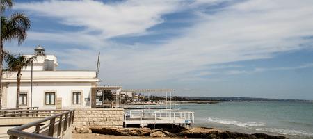 ragusa: a view of the seafront of Marina di Ragusa Beach