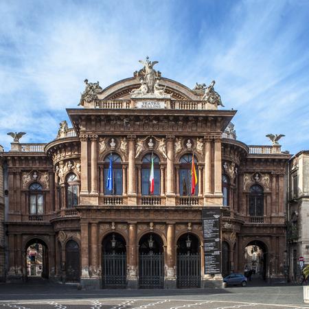 bellini: The facade of the Bellini Theater in Catania