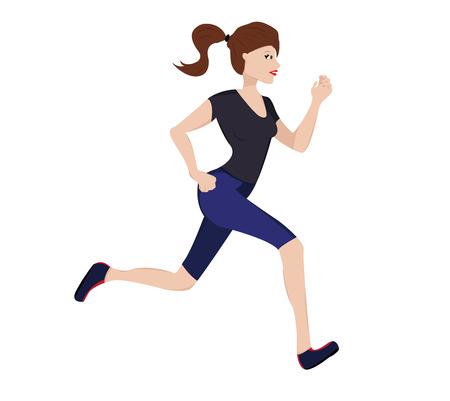 Vector illustration of running woman Vector