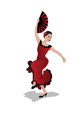 jonge vrouw flamenco dansen