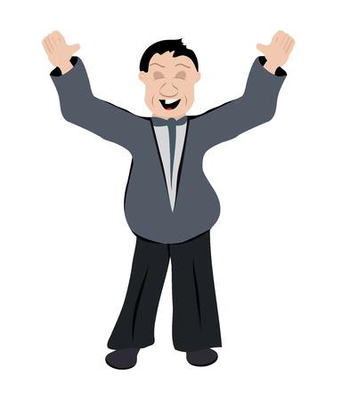happy office worker Stock Vector - 22725865