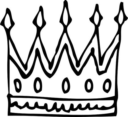 koninklijke kroon: Koninklijke kroon Stock Illustratie