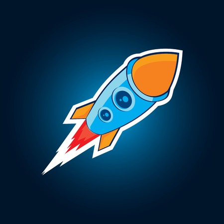 galactic: Vector galactic rocket Flat style Illustration