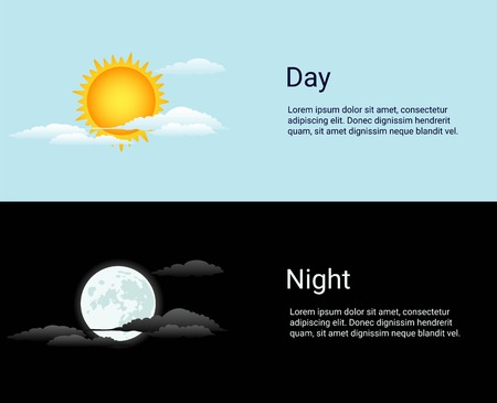 night background: Vector day and night vector time concept background Illustration