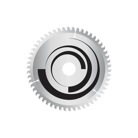 circular saw: Circular saw disk. object is isolated