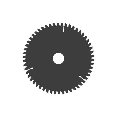 Circular saw disk. object is isolated on white background