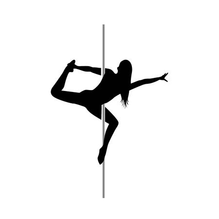 Pole dance girls. Illustration