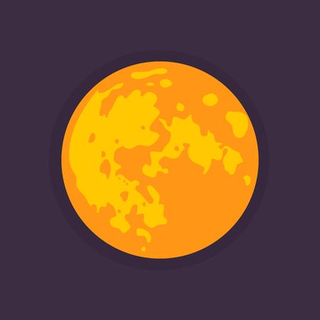 moon: Vector moon. Flat style Illustration