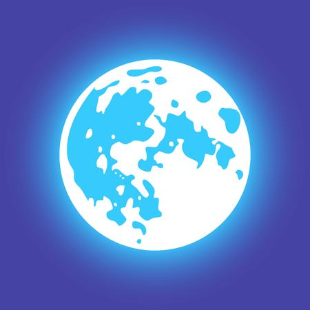 flat: Vector moon. Flat style Illustration