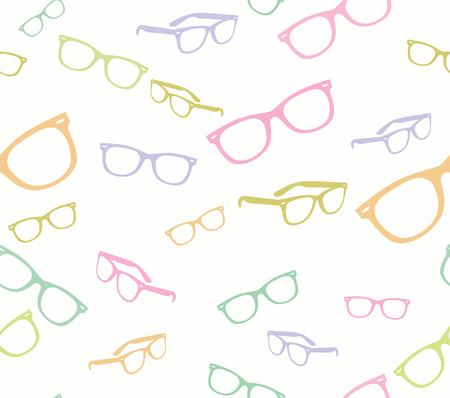 Seamless spectacles, glasses pattern, eyeglasses, specs . Sunglasses