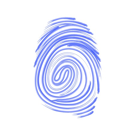 odcisk kciuka: Vector icon. Fingerprint. Isolated illustration. Watercolor pattern