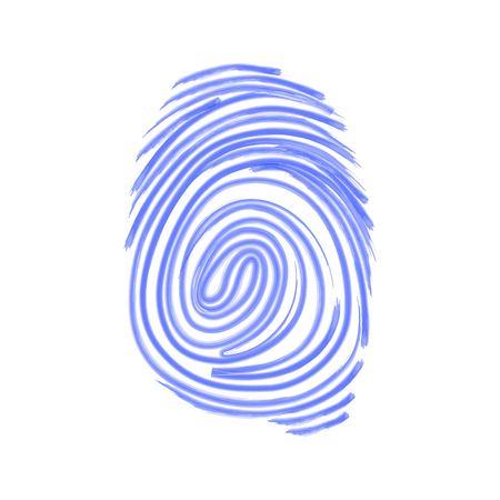 fingermark: Vector icon. Fingerprint. Isolated illustration. Watercolor pattern