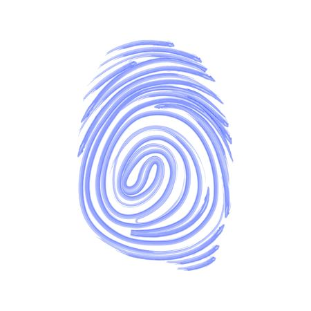 Vector icon. Fingerprint. Isolated illustration. Watercolor pattern