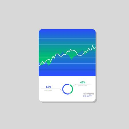 Info graphic dashboard template with flat design graphs and charts