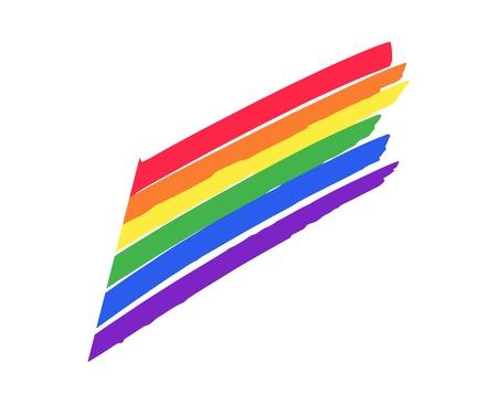 Vector icon flag. The colors of the rainbow. Illustration of a gay pride flag.