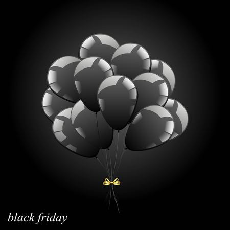 Vector bunch of balls. Black sheer balls. Icon. Black Friday Symbol. 向量圖像