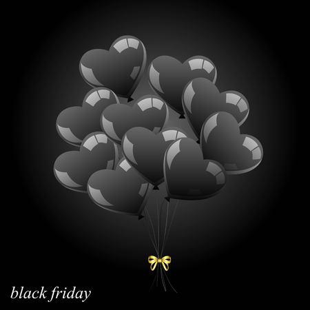 Vector bunch of balls. Black sheer balls. Black Friday Symbol.