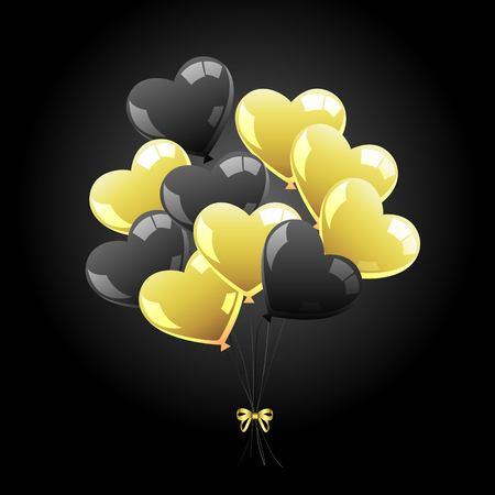 Vector bunch of balls. Black sheer balls. Icon. Black Friday Symbol 向量圖像