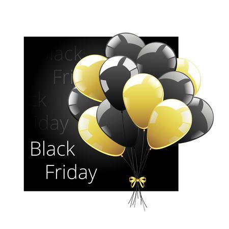 Vector bunch of balls. Black sheer balls icon. Black Friday Symbol.