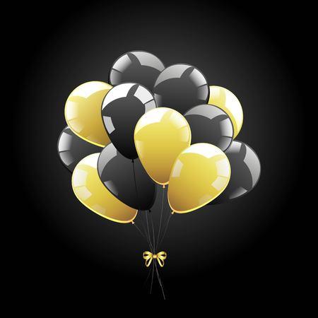 Vector bunch of balls. Black sheer balls. Black Friday Symbol 向量圖像